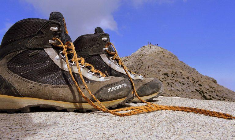boot, mountain, top